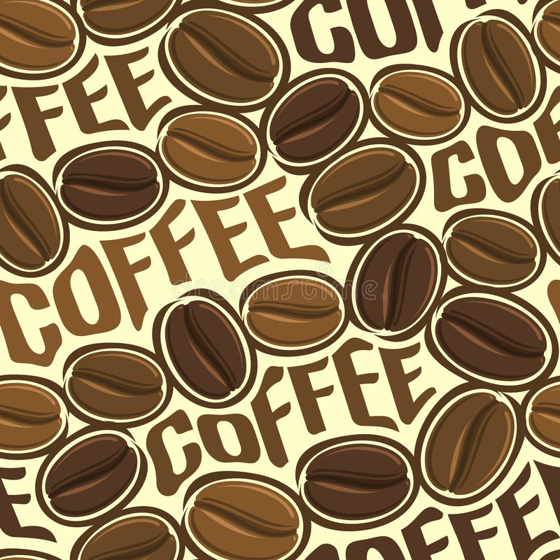 Download Background Vector Illustration On The Theme Of Roasted Brown Coffee Beans For Wallpaper Stock