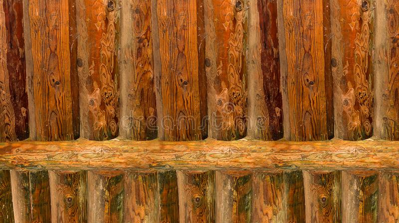 Background vertical log ribbed surface smooth rustic base color pine. Background vertical log ribbed surface smooth rustic base color natural pine stock photo