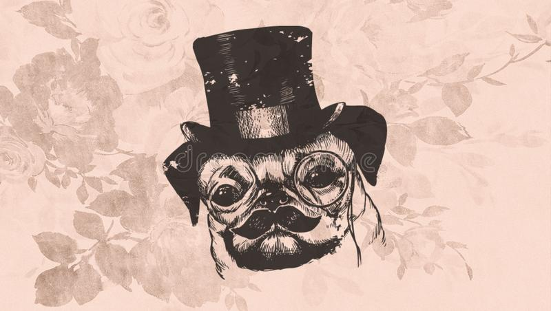 Background Vintage Doggy royalty free stock image
