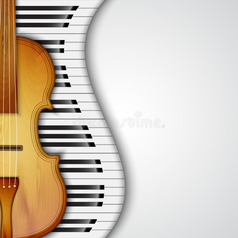 Piano Background Music: Background With Violin Stock Vector. Illustration Of Cello