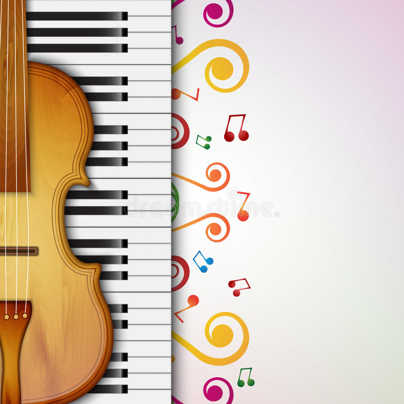 Background with violin vector illustration