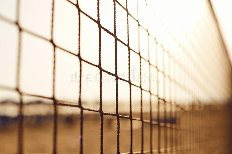 Background of the volleyball net on the beach. royalty free stock photography