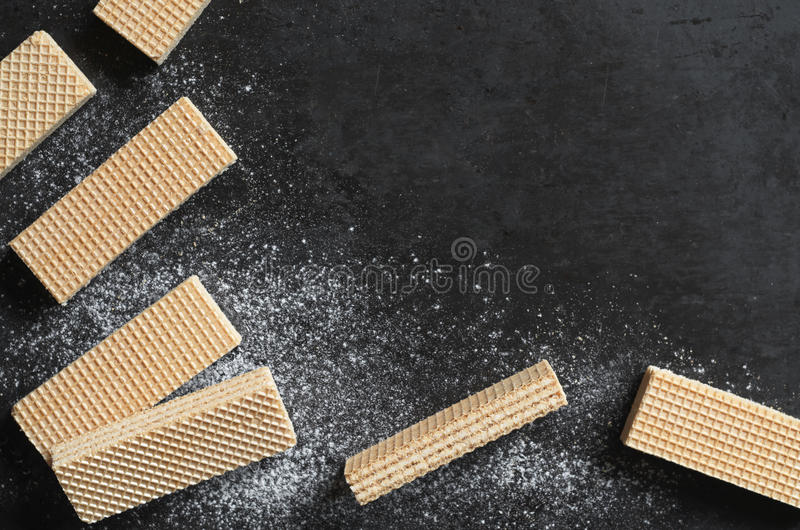 Background with wafers stock photo