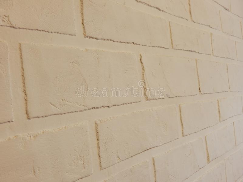 The background wall of this white brick plaster royalty free stock photos
