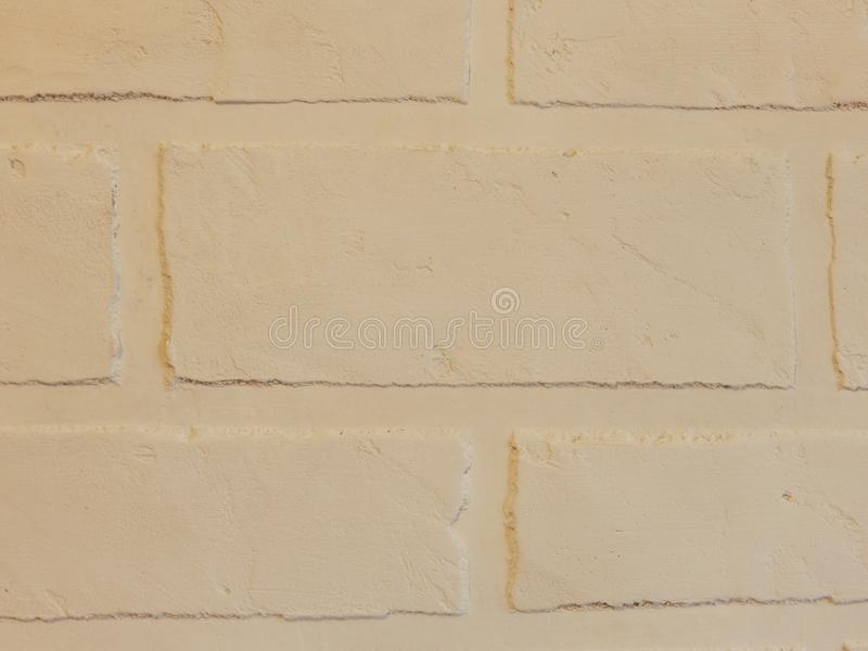 The background wall of this white brick plaster stock images