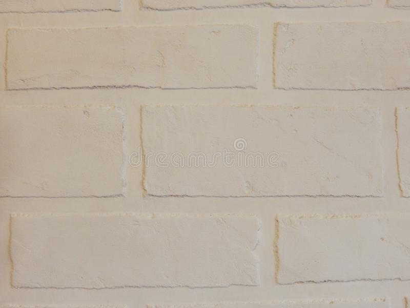 The background wall of this white brick plaster royalty free stock photo