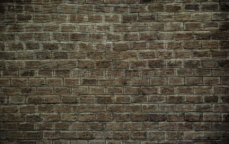 Background of hardwood floors polished and texture like brick wall. Background or Wallpaper and Detail of dark hardwood floors polished and texture like brick stock photography