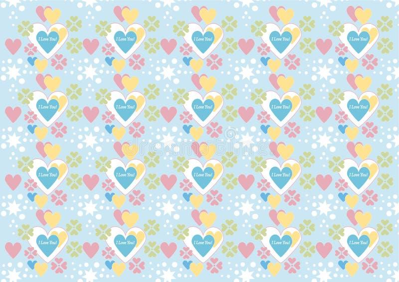 Background.Wallpaper. Ich liebe dich! lizenzfreie abbildung