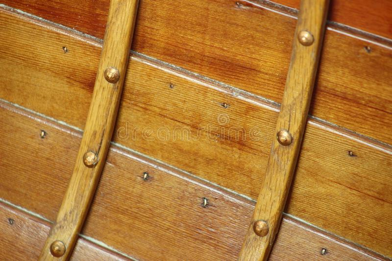 Rivets On Interior Of Wooden Boat Stock Image Image Of Maritime
