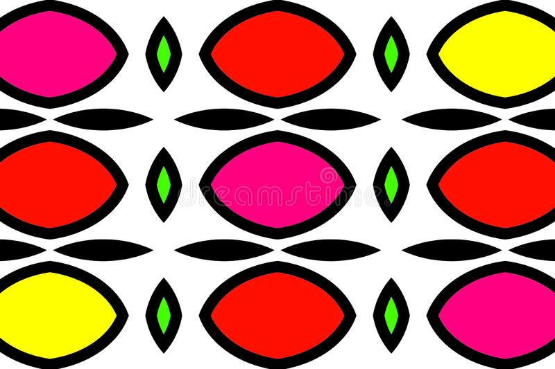 Background or wallpaper: Multi-colored lemons like in the casino one-arm bandits or slot machines. stock illustration