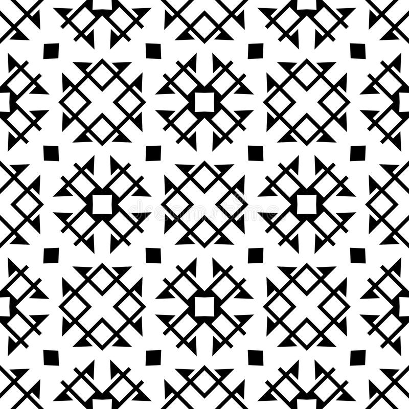 Download Vector Black And White Seamless Pattern Design GEOMETRIC Stock