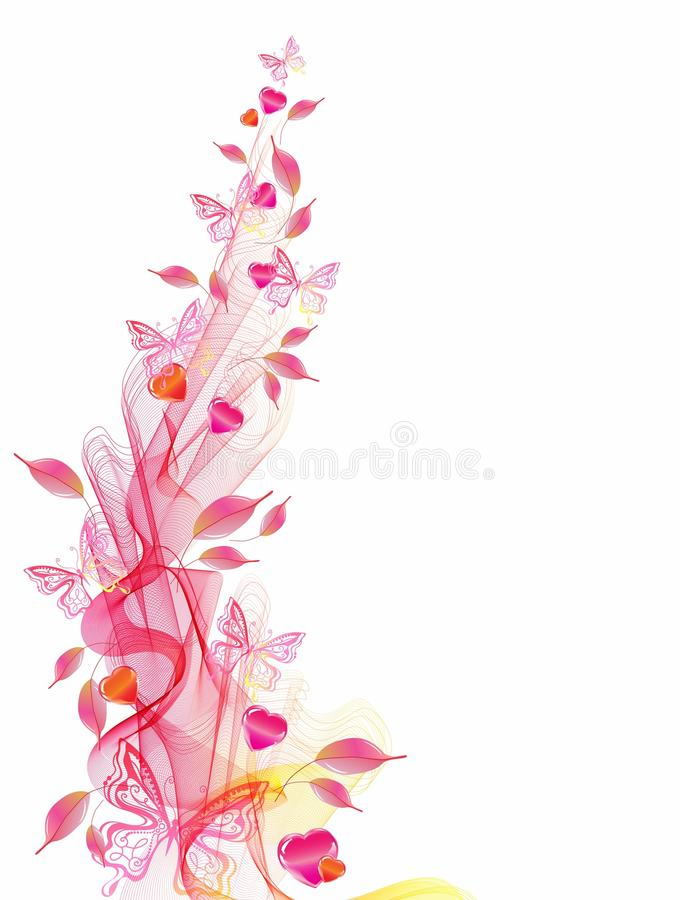 Download Background With Wave And Heart Stock Vector - Image: 28465536
