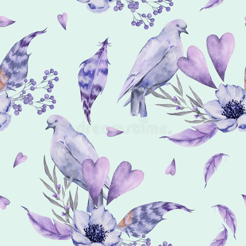 Background wedding. Seamless pattern. royalty free illustration