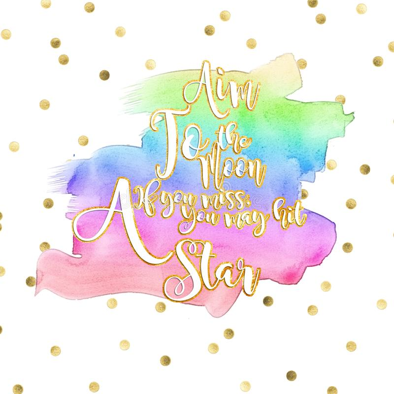 Colorful text background with white and gold text effect and rainbow colors. Background with white and gold text effect and rainbow colors royalty free illustration