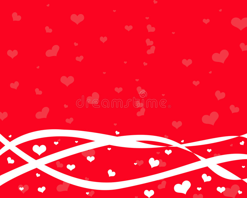 Background With White Heart Stock Photos