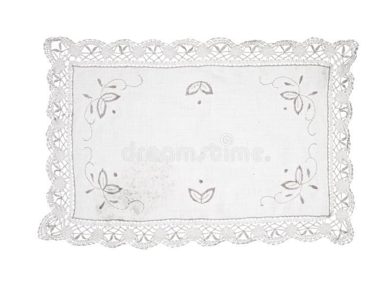 Background white lace doily pattern stock image