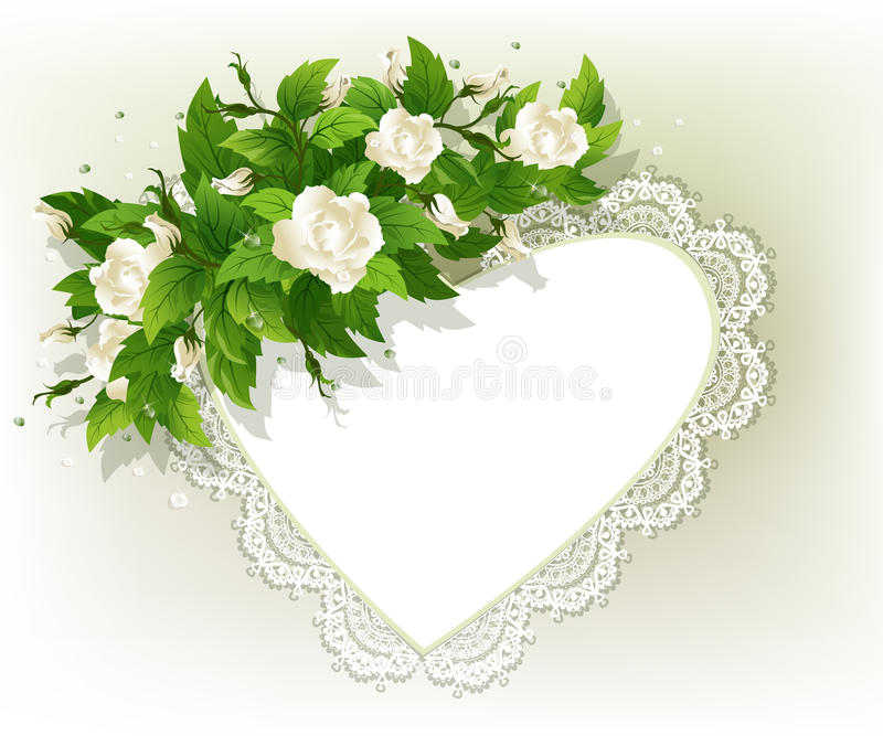 Background With White Roses Royalty Free Stock Photo