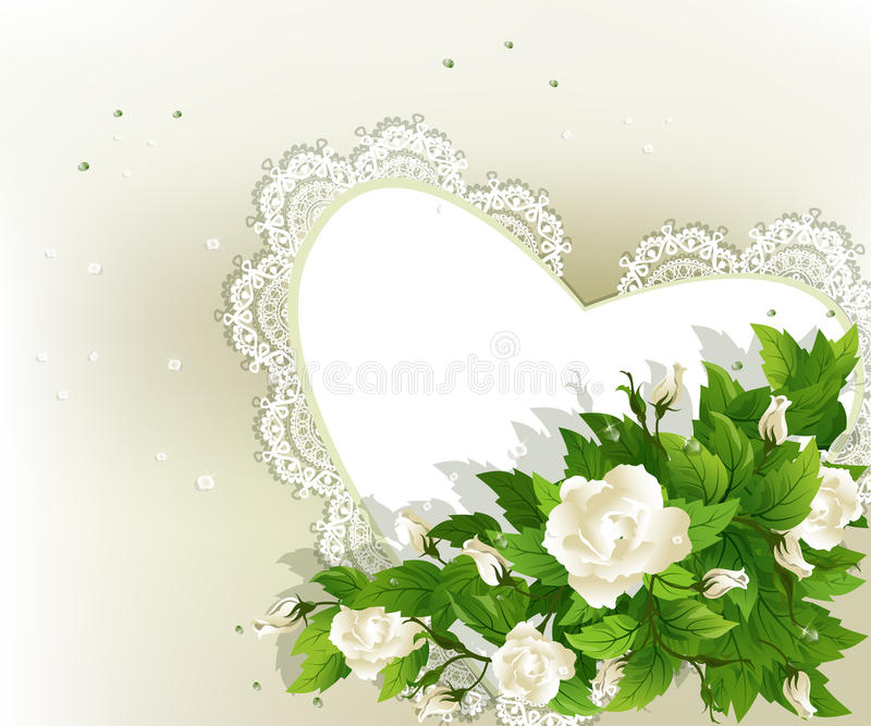Download Background With White Roses Stock Vector - Image: 23766587