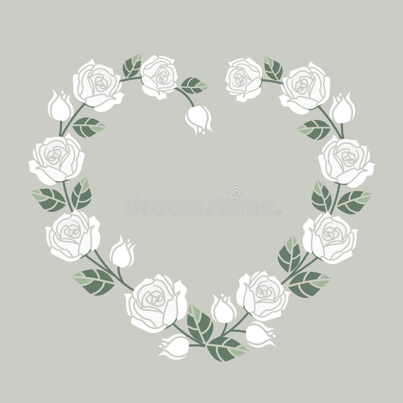 Background with white roses royalty free illustration