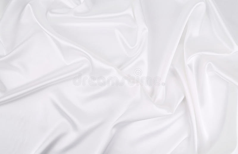 Background of white silk royalty free stock image