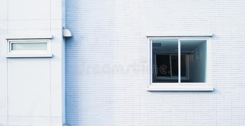 Background of white wall and window royalty free stock image