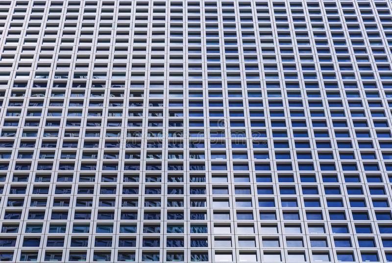 Background by windows of the modern office high-rise building stock photography