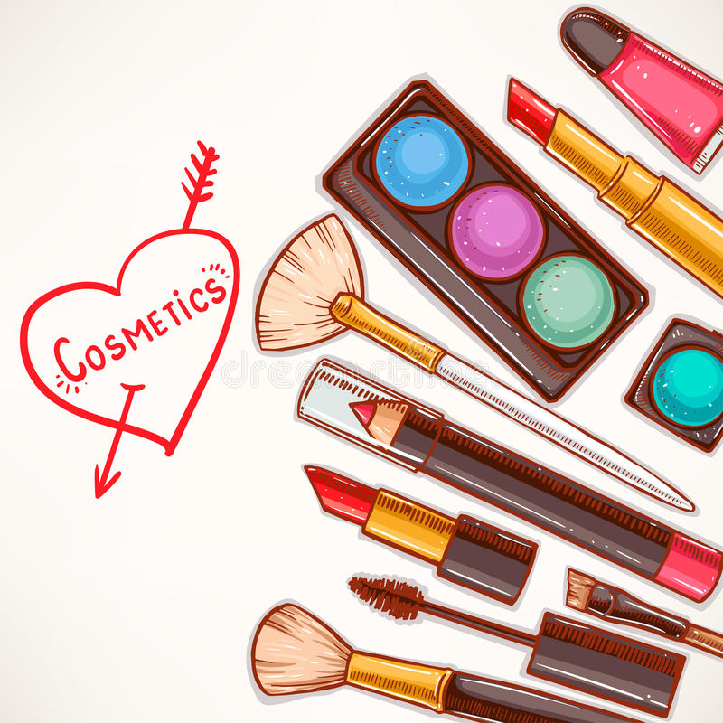 Free Background With Decorative Cosmetics - 2 Stock Image - 50516291