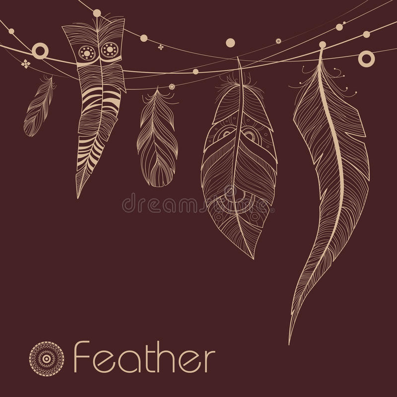 Free Background With Decorative Feathers Royalty Free Stock Photography - 36272507