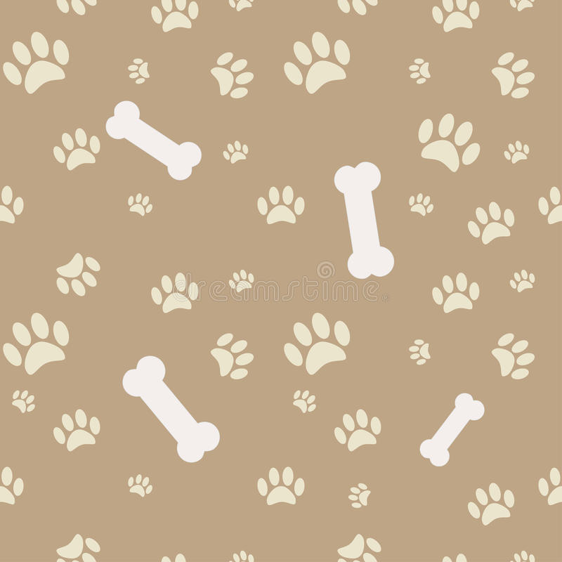 Free Background With Dog Paw Print And Bone Royalty Free Stock Photos - 24259658