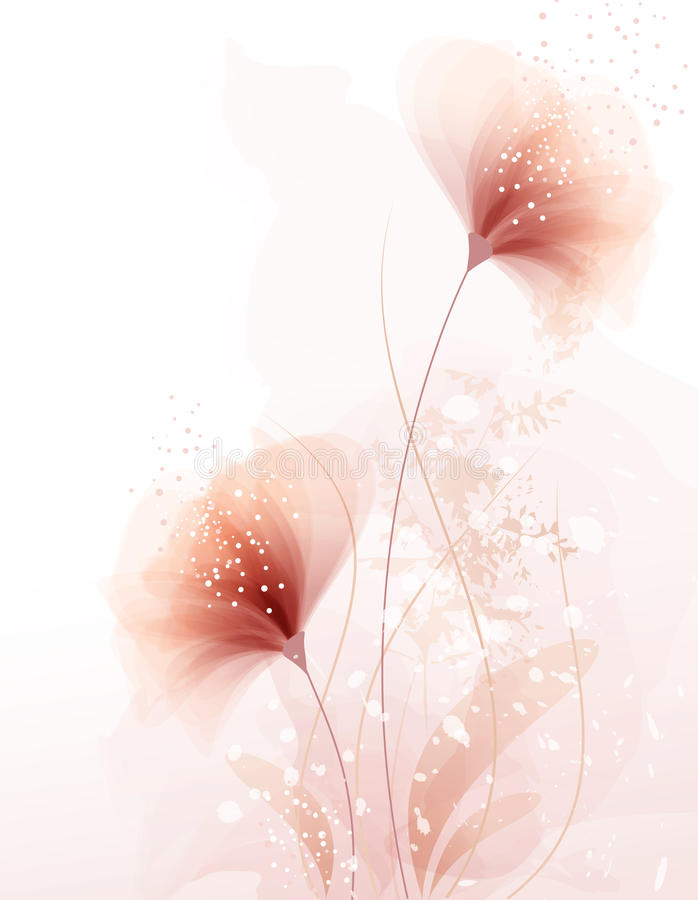 Free Background With Pastel Flowers Royalty Free Stock Images - 30668299