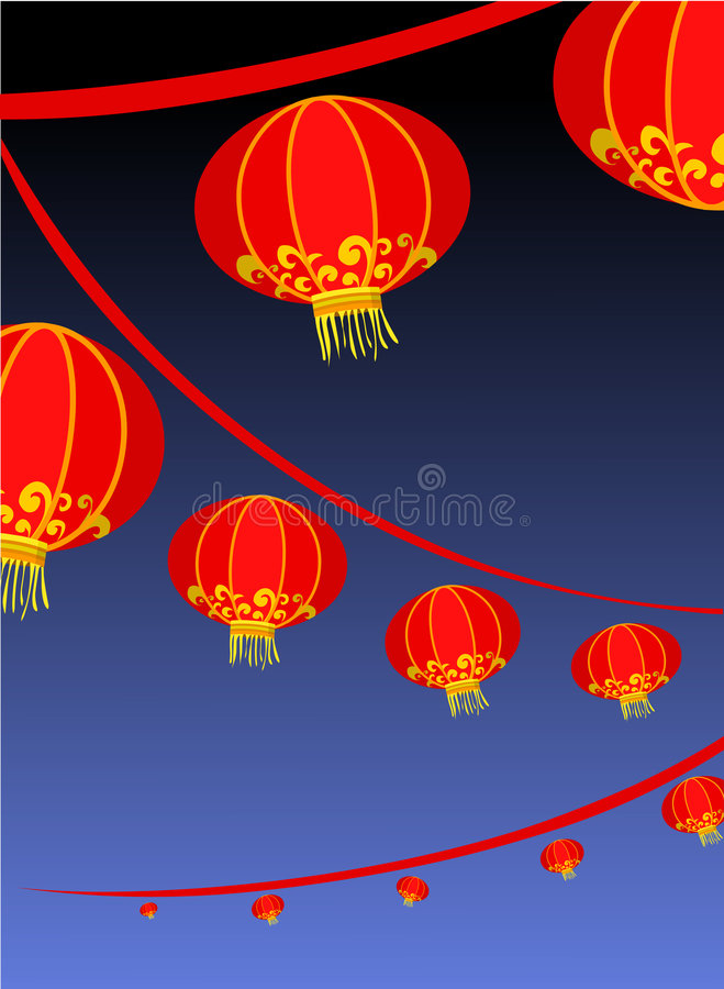 Free Background With Red Chinese Lantern Stock Images - 6826164