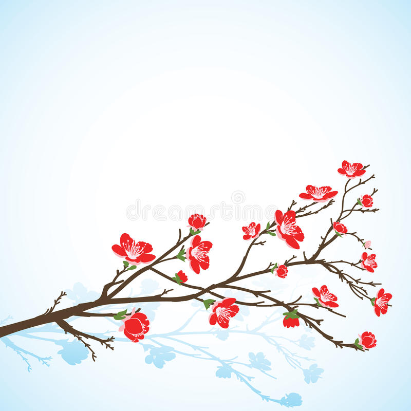Free Background With Sring Tree Royalty Free Stock Photos - 29998338