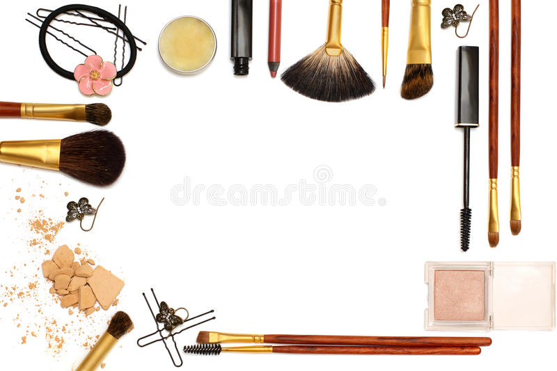 Background of women's Accessories - frame royalty free stock image