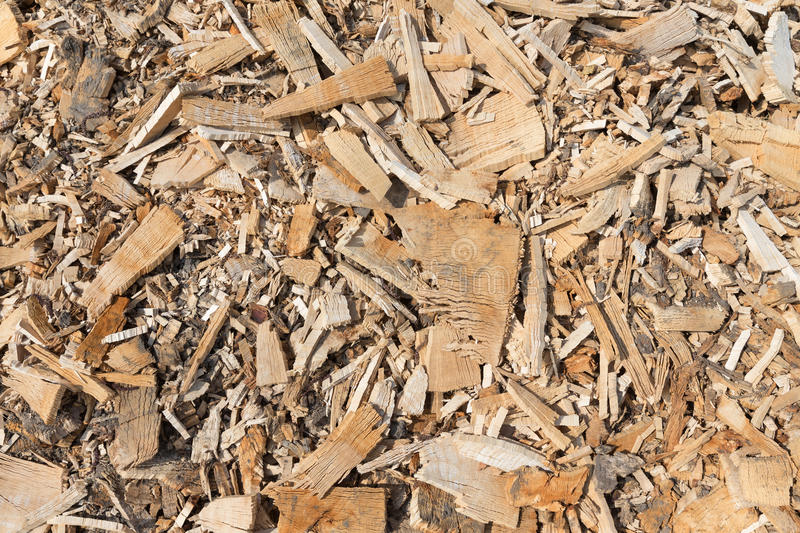 Background of wood chippings royalty free stock photography