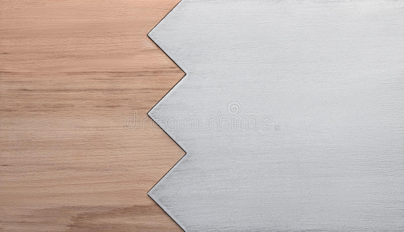 Background of wood and metal stock images