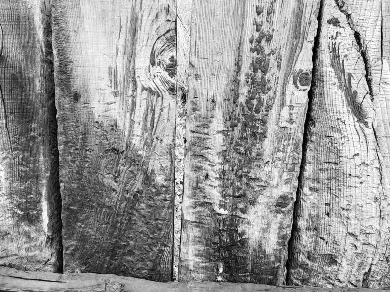 Background from a wooden board wooden boards with knots. in black and white. Old wooden painted light brown rustic background royalty free stock images