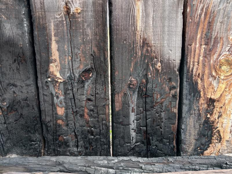 Background from a wooden board wooden boards with knots. Painted light brown rustic background of old wood royalty free stock image