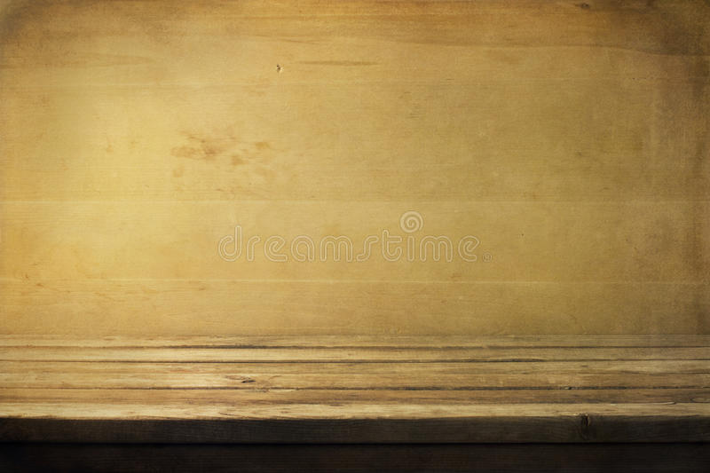 Background with wooden deck. Table and wooden board stock photo