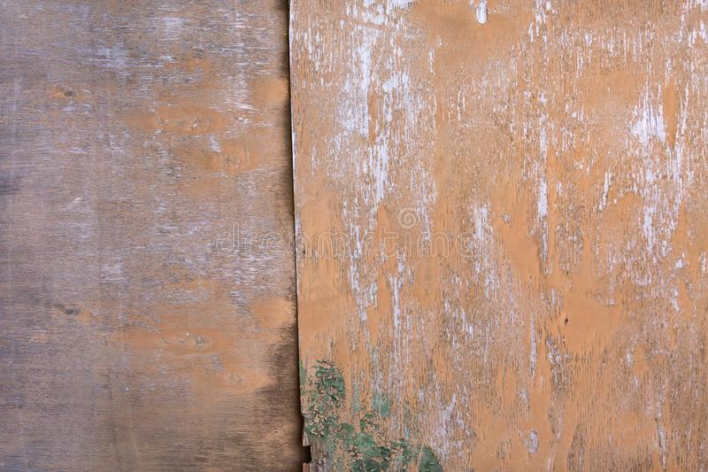Background wooden planks of old house, old treated wood royalty free stock image