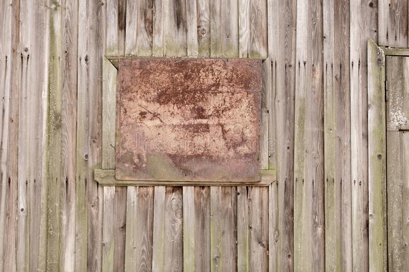 Background wooden planks of old house, old treated wood stock photo