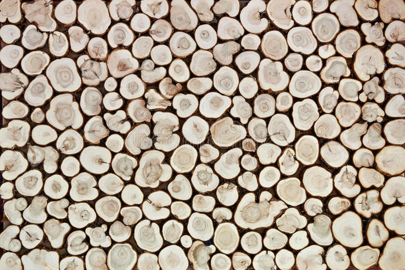 Background of wooden slices royalty free stock image