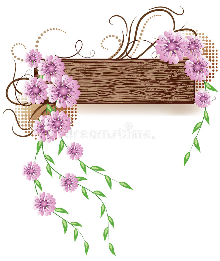 Background with wooden texture stock illustration