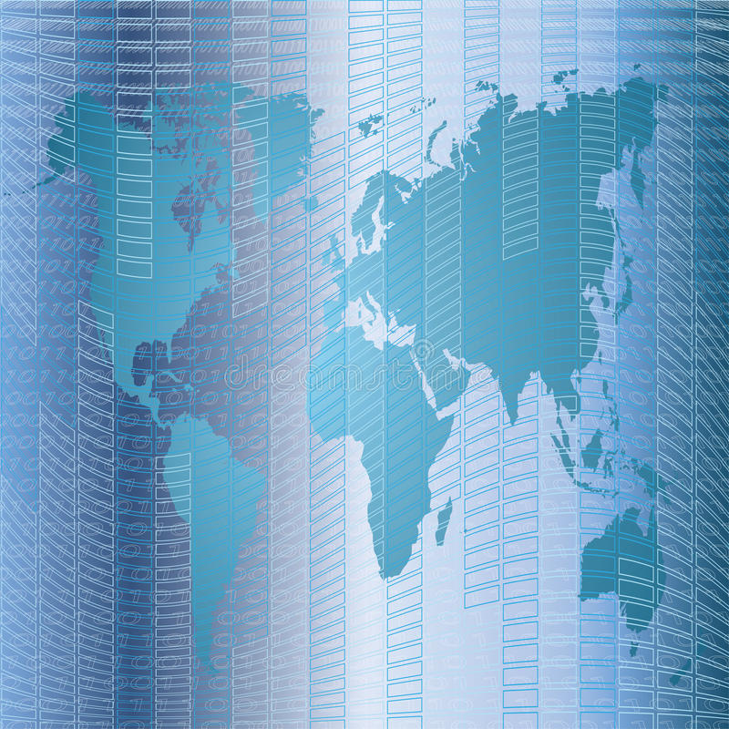 Download Background With World Map Royalty Free Stock Photos - Image: 25345638