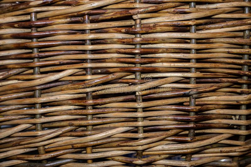 Background woven of willow twigs royalty free stock images