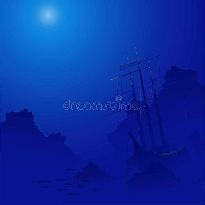 Background with wreck royalty free illustration