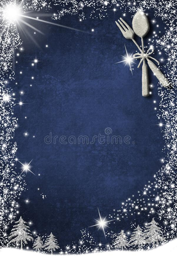 Background for write Christmas or winter menu royalty free stock images