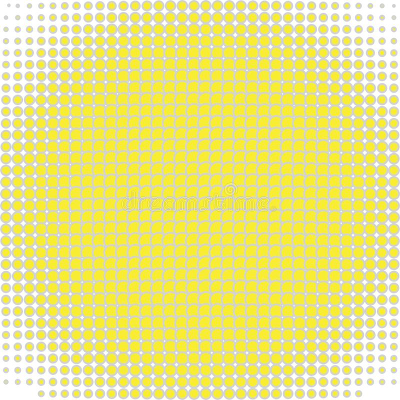 Background with yellow circles on white stock illustration