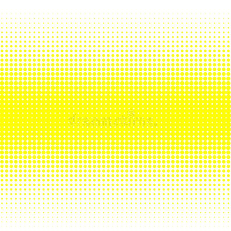 The background of yellow dots of different sizes have different density on the white. vector illustration