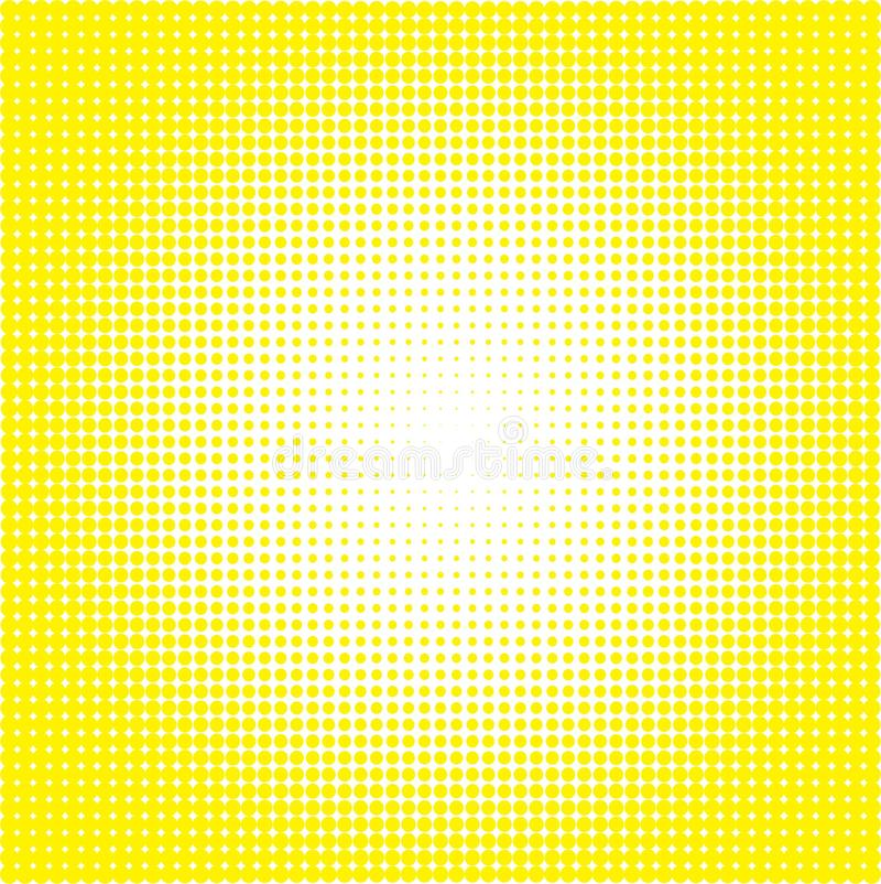 Background with yellow dots on white stock illustration