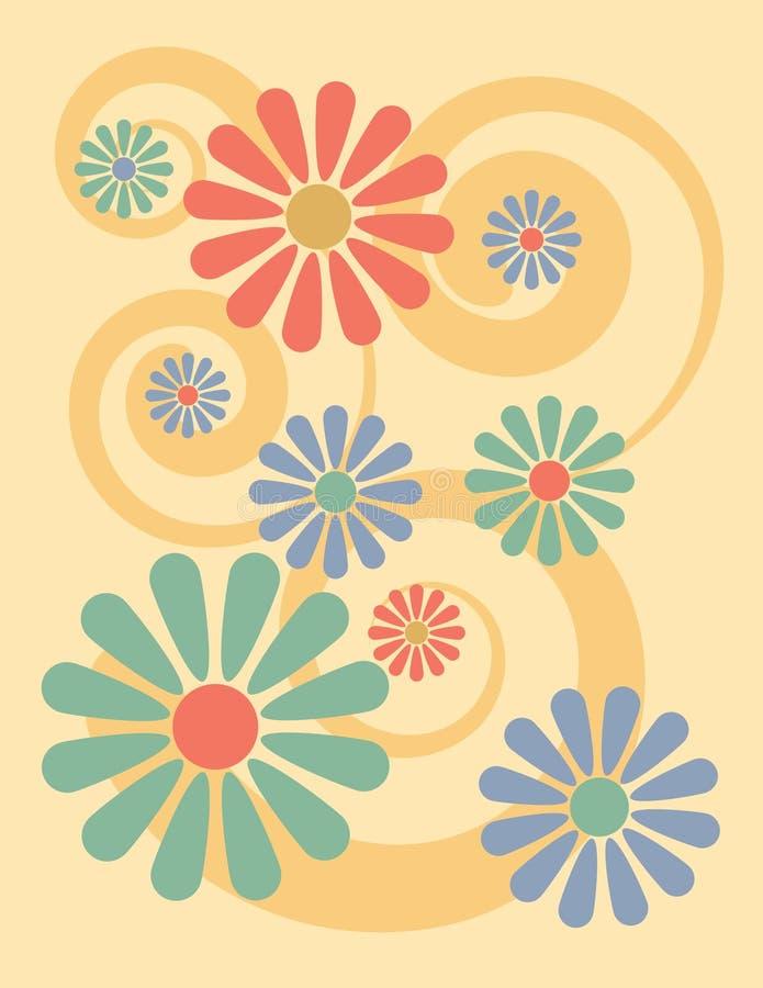 Background_Yellow floreale illustrazione vettoriale